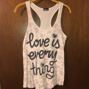 "Wet Seal Halter ""Love is Everything"""